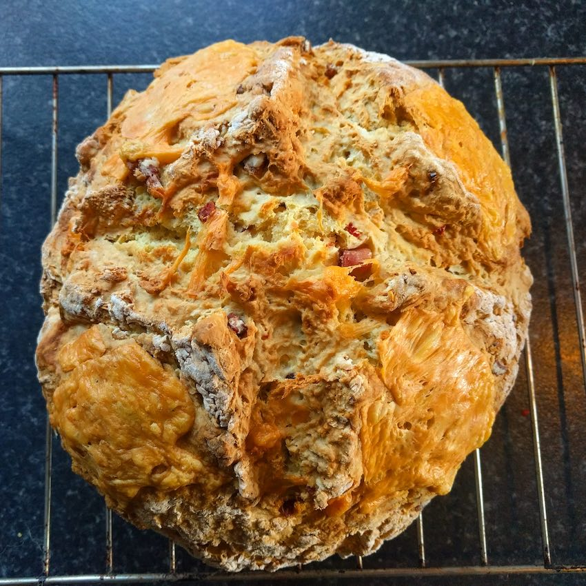 Recipe: Chilli, cheese and bacon soda bread